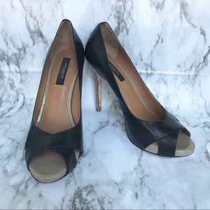 Ann Taylor Cheri Peep-toe Platform Pumps